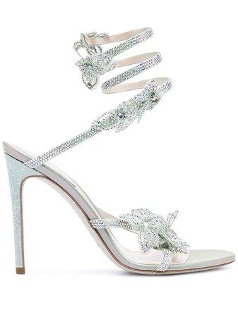 Shop green René Caovilla Floriane sandals with Express Delivery - Farfetch
