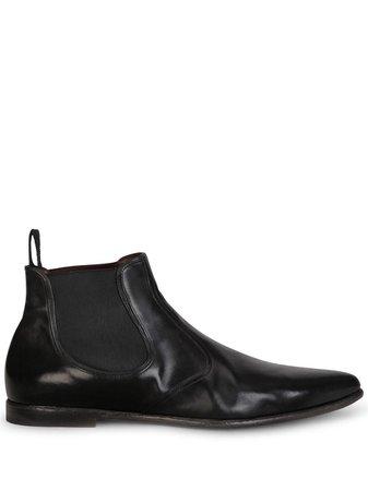 Dolce & Gabbana slip-on calf leather boots - FARFETCH