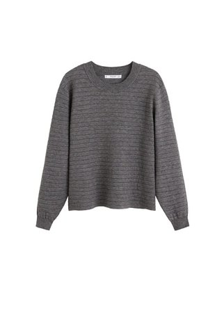 MANGO Ribbed chunky-knit sweater