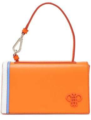 Appliqued Leather Clutch