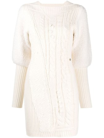 Chanel Pre-Owned 2001 Cable Knit Dress Vintage | Farfetch.Com