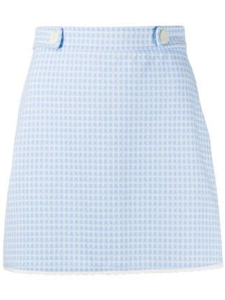 Miu Miu A-line Gingham Seersucker mini-skirt - Farfetch