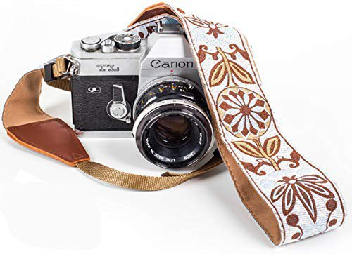 Amazon.com : White Woven Vintage Camera Strap Belt For All DSLR Camera. Embroidered Elegant Universal DSLR Strap, Floral Pattern Neck Shoulder Camera Strap for Canon, Nikon, Pentax, Sony, Fujifilm and Digital Camera : Camera & Photo