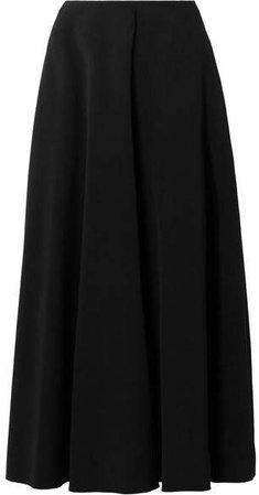 Mara Stretch-crepe Midi Skirt - Black
