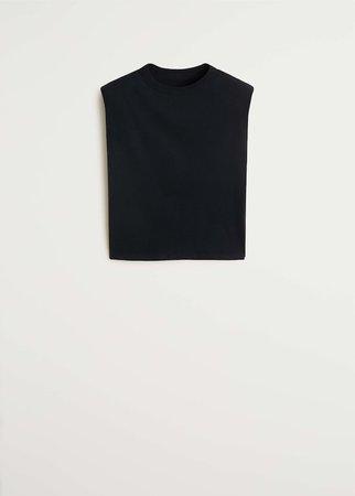 Shoulder pad cotton t-shirt - Women | Mango USA