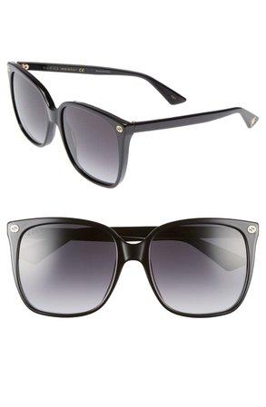 Gucci 57mm Gradient Square Sunglasses   Nordstrom