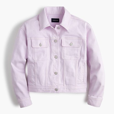 J.Crew: Garment-dyed Denim Jacket purple