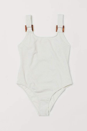 Ribbed Swimsuit - White