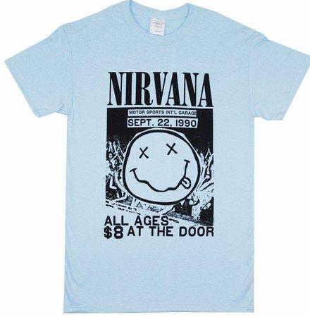 Light-Blue Nirvana T-Shirt