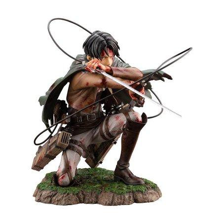 Kotobukiya Attack on Titan ARTFXJ Statue 1/7 Levi Fortitude Ver. 17 cm Merchandise   Zavvi Australia