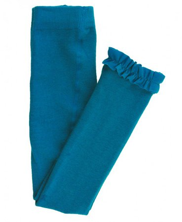 Ruffle Butts Peacock Blue Footless Ruffle Tights