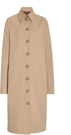 Marina Moscone Cotton-Blend Trench Coat