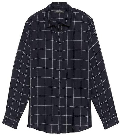 Dillon Classic-Fit Windowpane Plaid Flannel Shirt