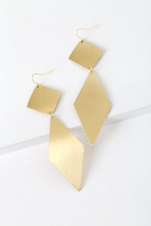 Chic Gold Earrings - Drop Earrings - Geometric Earrings