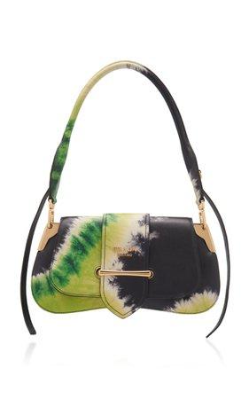 Pattina Tie-Dye Leather Shoulder Bag by Prada | Moda Operandi