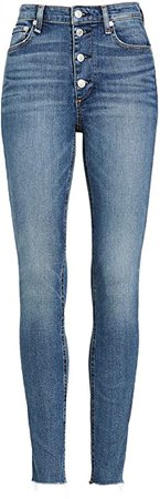 Rag & Bone/JEAN Women's Nina High-Rise Skinny Jeans, Fire Island, Blue, 33 at Amazon Women's Jeans store
