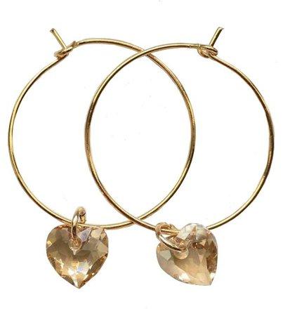 Mentamoon Gold Heart Earrings