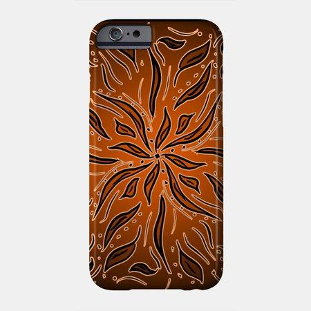 Brown Orange Flower - Flower - Phone Case | TeePublic