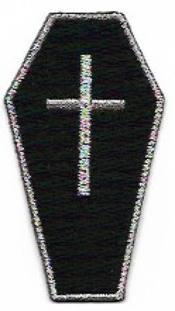 Gothic Coffin Embroidered Patch Iron On Appliqué Black with   Etsy
