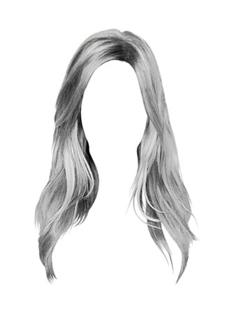 Silver Hair PNG