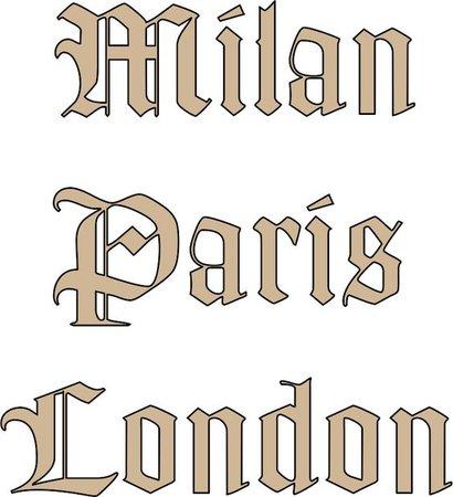 milan paris london