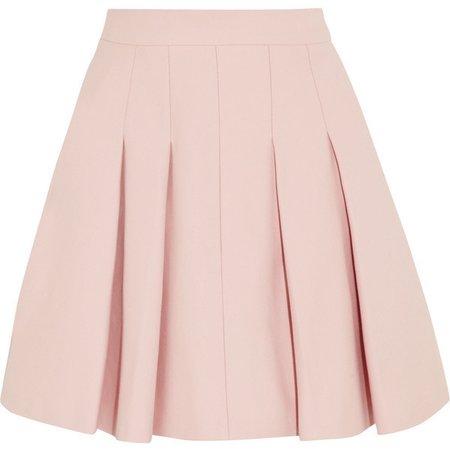 Pastel Pink Pleated Mini Skirt