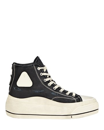 R13 Platform High-Top Canvas Sneakers | INTERMIX®