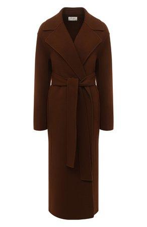 Женское коричневое шерстяное пальто THE ROW — купить за 251000 руб. в интернет-магазине ЦУМ, арт. 5210W1911