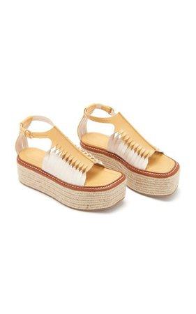 Valencia Twisted Contrast Leather Sandals By Ulla Johnson | Moda Operandi