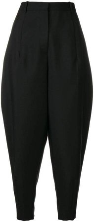 carrot leg tailored trousers