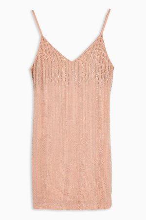 Pastel Pink Beaded Slip Dress | Topshop