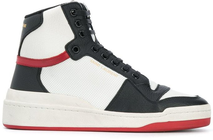 Panelled High-Top Sneakers