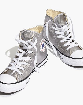 Converse Unisex Chuck Taylor All Star High-Top Sneakers in Metallic
