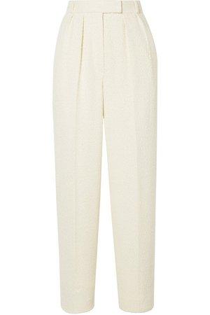 The Row | Landely bouclé straight-leg pants | NET-A-PORTER.COM