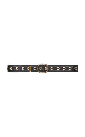 large_elie-saab-black-grommet-leather-belt.jpg (1598×2560)