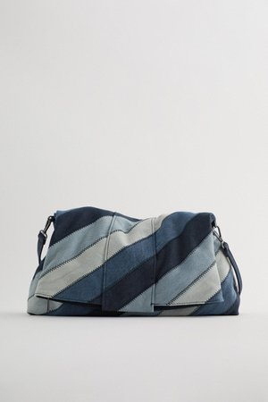DENIM PATCHWORK CLUTCH BAG | ZARA United Kingdom