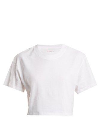 The Crop cotton-jersey T-shirt | Hanes x Karla | MATCHESFASHION.COM