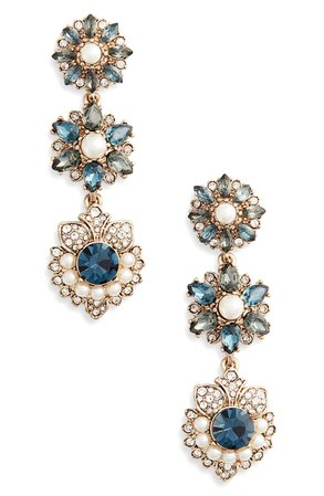 Marchesa Crystal Linear Drop Earrings | Nordstrom