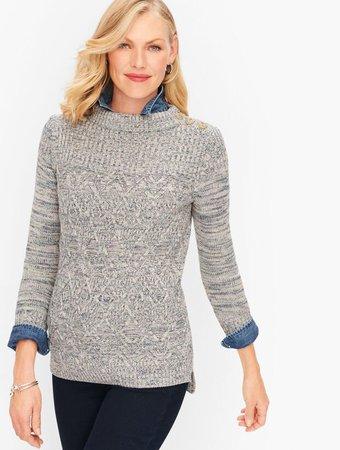 Marled Mockneck Sweater | Talbots