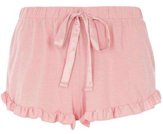 Dorothy Perkins - DP Lounge Pink Ruffle Edge Shorts ($11)