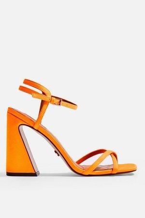 REDEMPTION Orange Sandals - Heels - Shoes - Topshop Europe