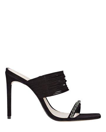 Schutz Kimber Square Toe Suede Sandals | INTERMIX®