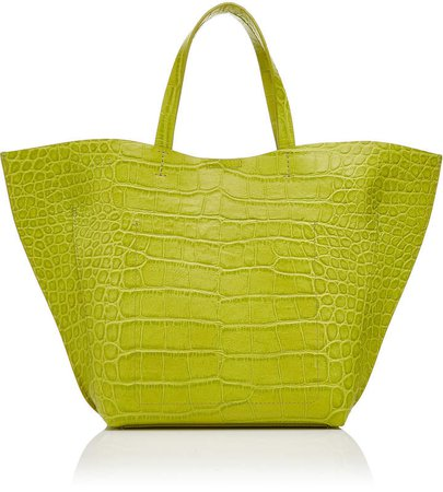 IMAGO-A Croc Embossed Leather Shell Tote
