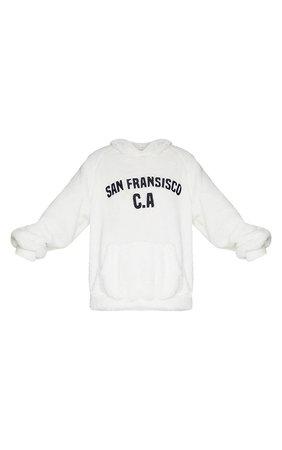 White Borg San Francisco Hoodie | Tops | PrettyLittleThing USA