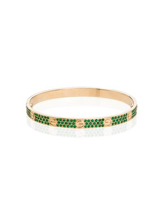 MAD Paris, Cartier Love 18kt Gold Emerald Bracelet