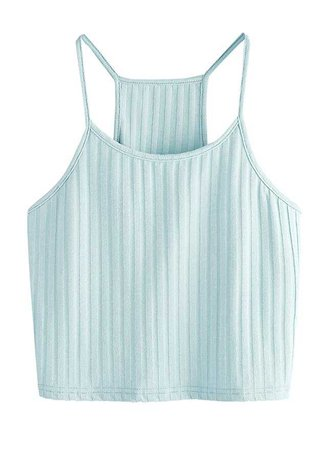 Women's Summer Basic Sexy Strappy Sleeveless Racerback Crop Top at Amazon Women's Clothing store: