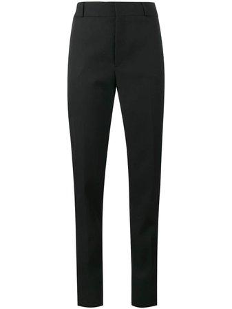 Saint Laurent Satin Stripe Suit Trousers 482351Y399W Black   Farfetch
