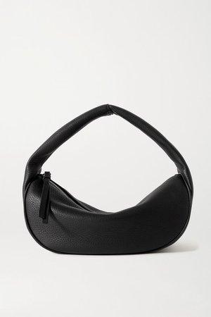 Cush Textured-leather Shoulder Bag - Black
