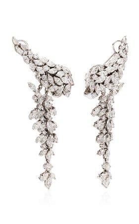 Yeprem 18K White Diamond Chandelier Earrings