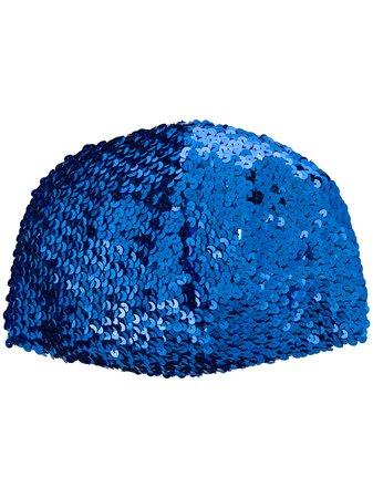 Gucci Sequin-Embellished Hat 6085053GF03 Blue | Farfetch